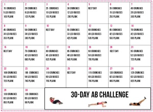 30-Day Fitness Calendar